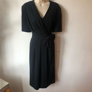 Beautiful Black Midi Classy Dress